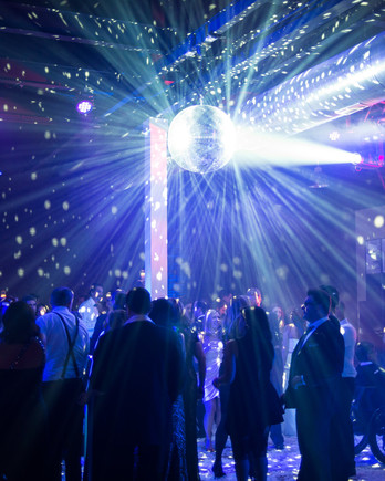 after party decor black light and disco ball dance floor