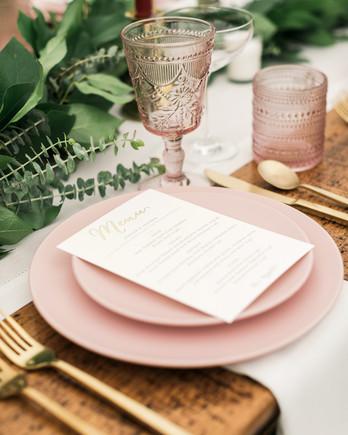 vanessa steven wedding placesetting