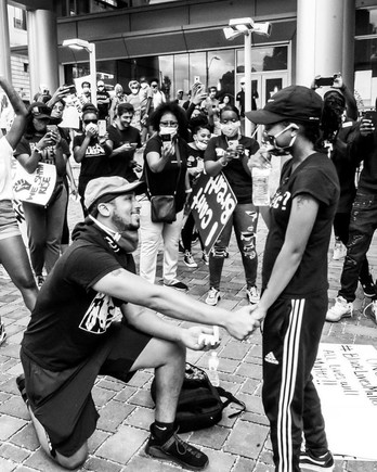 xavier young marriage proposal to marjorie alston at black lives matter protest