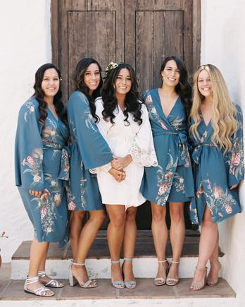 daphne jack wedding spain bridesmaids in robes