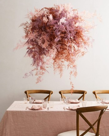 dried flower ceiling centerpiece