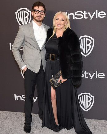 hilary duff and matthew koma at the golden globes after party