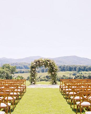 hannah chris wedding north garden va ceremony arch