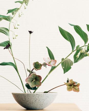 Ikebana-Inspired Floral Centerpiece
