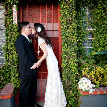 A Whimsical Pink, Brown, and Green Wedding Outdoors in California