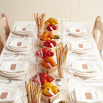 Favor Centerpieces: Tuscan Takeaway