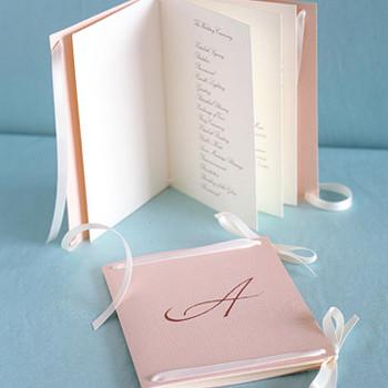 Program Booklets: Ribbon Binding