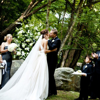 A Formal Black-and-White Tent Wedding on a Farm in Virginia