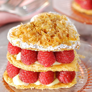 Heart-Shaped Raspberry Napoleons