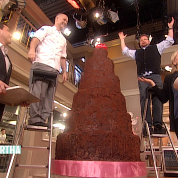 Chef Alain Roby Makes Devil's Food Cake with Martha Stewart