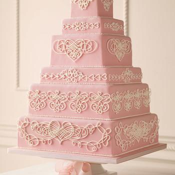 Filigree Heart Wedding Cake How-To