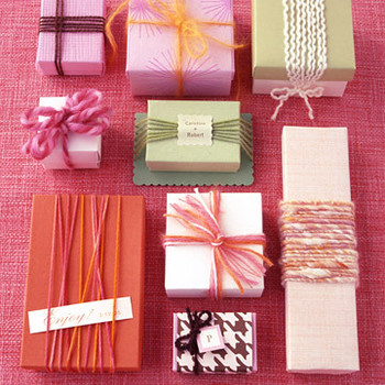 It's All About Warm and Cozy: Favor Boxes