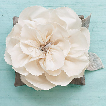 Silk-Flower Ring Pillow
