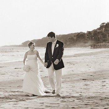 A Traditional Pale-Blue Wedding by the Beach in Georgia