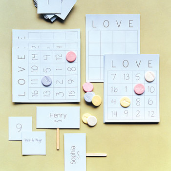 Bridal Shower Activity: Love Bingo