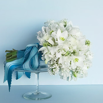 Wedding Colors: Blue and White
