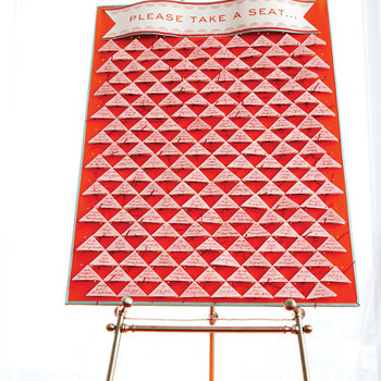 Triangles Seating Chart Board