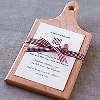 Cutting Board Shower Invitation