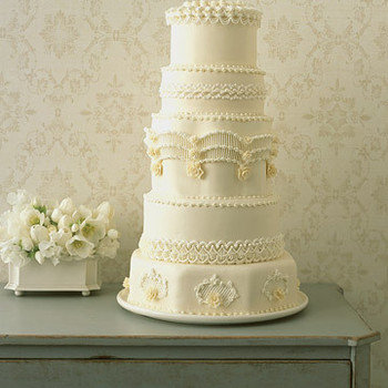 Regal Piped Wedding Cake