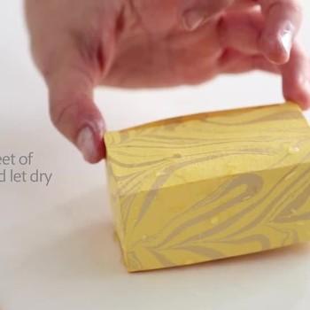 DIY Marbled Favor Box