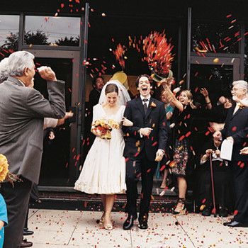 An Autumnal-Colored Traditional Wedding at Home in New Jersey