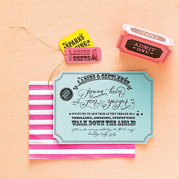 Ticket Wedding Invitation How-To