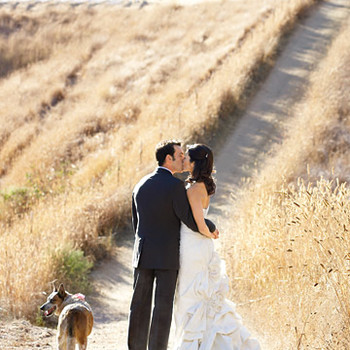 A Rustic Red-and-White Wedding on a Ranch in California