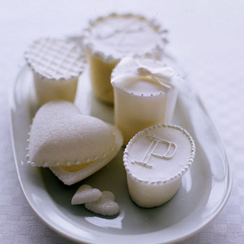 White Favors: Sugar Boxes