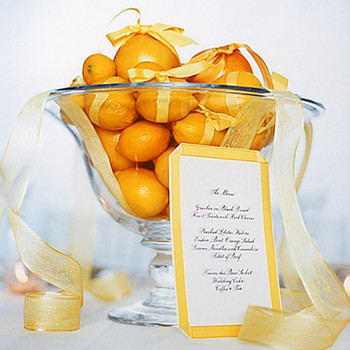 Ribbons: Citrus Centerpiece