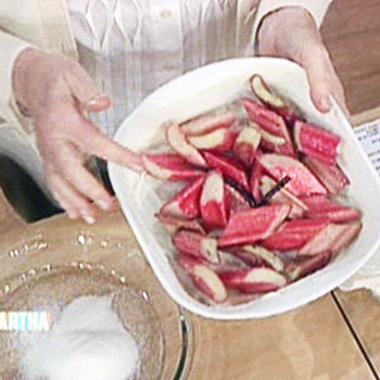 Alexa Vega Joins Martha to Make Baked Rhubarb