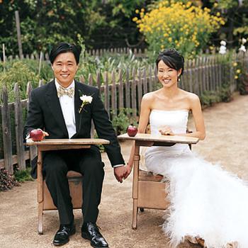 A Retro School-Themed Outdoor Wedding in California