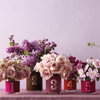 Velvet Table Numbers