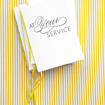 Wedding Programs: At Your Service