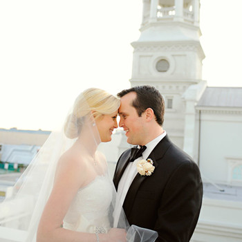 A Formal Black-and-White Wedding in California
