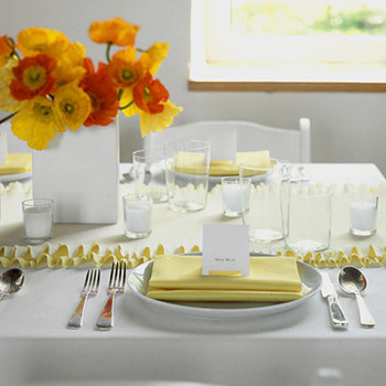 Ruffly Crepe Paper Table Runner