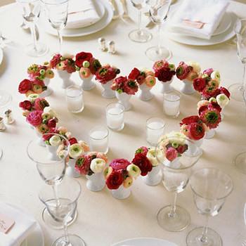 Flower-Heart Centerpiece