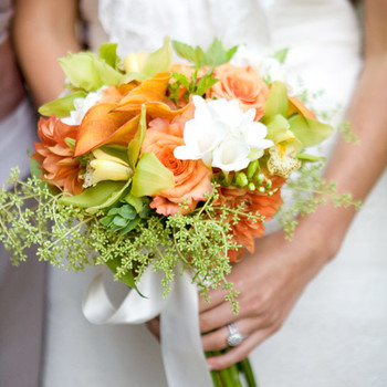 Real Weddings with Orange Ideas