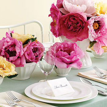 Bowl 'Em Over: Flower Centerpiece