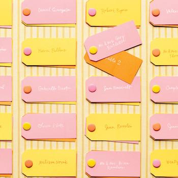 Wedding Colors: Orange, Pink, and Yellow
