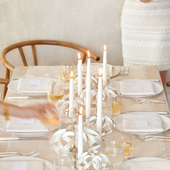 Twisted Veneer Candleholders and Garland How-To
