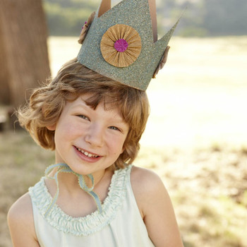 Glitter Crown with Crepe-Paper Rosettes How-To