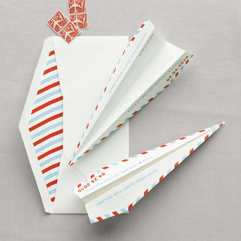 Paper Airplane Save-the-Date