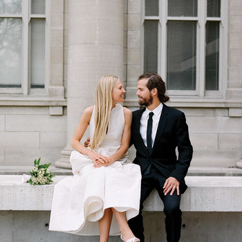 A Modern, Formal White Destination Wedding in Toronto