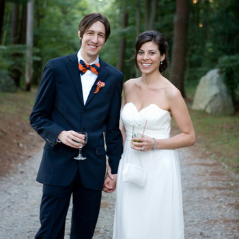 A Whimsical Navy-and-Yellow Wedding in Massachusetts