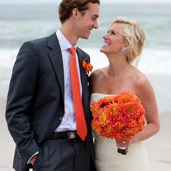 A Vibrant Orange-and-Purple Beach Destination Wedding in New Jersey