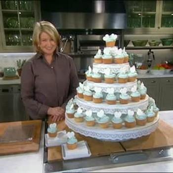 Monogrammed Cupcake Cake for Weddings
