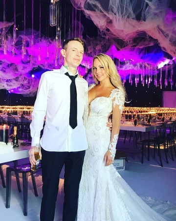 Deadmau5 Wedding Photo with Wife