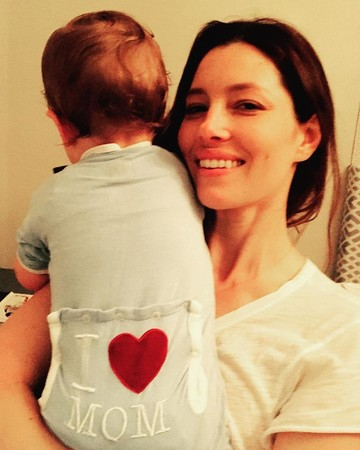 Jessica Biel and son Silas