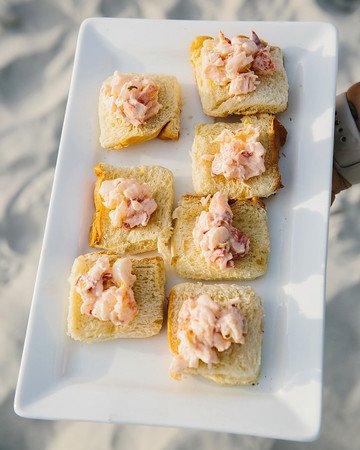 mini lobster rolls on platter