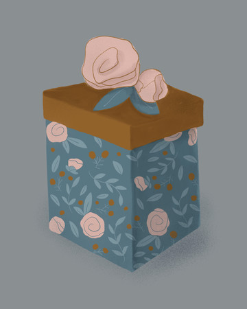 Last Minute Under $50 Gift Guide, Illustrated Gift Box